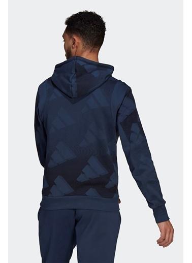 adidas Adidas Erkek Günlük Kapşonlu Sweatshirt M Fi Gfx Po Gm6353 Renkli